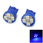 T10 0.4W 18lm 490-450 нм 4-SMD 1210 LED Blue Light автомобилей Инструмент Lights - синий + белый (2 шт)