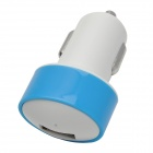 USB Car Cigarette Lighter Power Adapter for Iphone / Samsung / HTC / Nokia - White + Blue