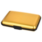 Aluminum Alloy Bank Credit Card Case Holder Box - Golden