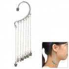 Zinc Alloy Skull Pattern Chain Ear Hook Decoration Earrings for Women - Silver