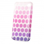 Glow-in-the-Dark Polka Dot Style Protective Plastic Back Case for Iphone 4 / 4S - Purple
