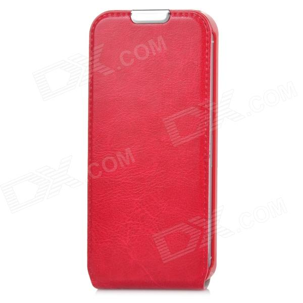 Protective Flip-Open PU Leather Case for Iphone 5 - Red usams protective pu leather flip open case for iphone 5c blue