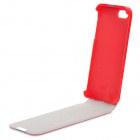 Protective Flip-Open PU Leather Case for Iphone 5 - Red