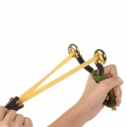 4-in-1 Rubber Band + Steel Balls for Slingshot - Yellow + Black