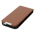 Protective Flip-Open PU Leather Case for Iphone 5 - Brown