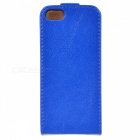 Protective Flip-Open PU Leather Case for Iphone 5 - Blue