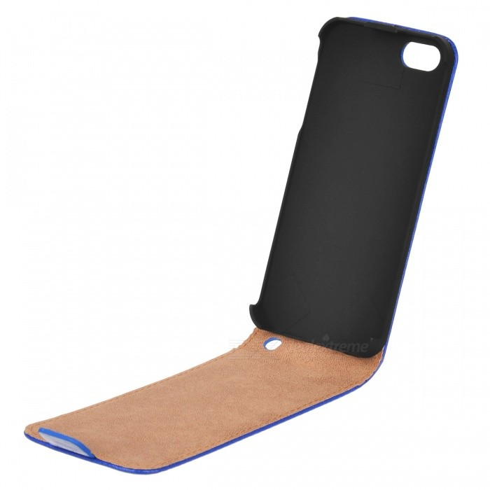 Housse en cuir pu flip open protectrice pour iphone 5 for Housse cuir iphone 5