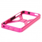 Cool Protective Aluminum Alloy Back Cover Case for Iphone 5 - Deep Pink