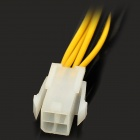 4 a 8 Pin Pin EPS Power Supply Cable - Black + Amarelo + White (20 CM)