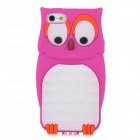 Cute Owl Style Protective Silicone Back Case for Iphone 5 - Deep Pink