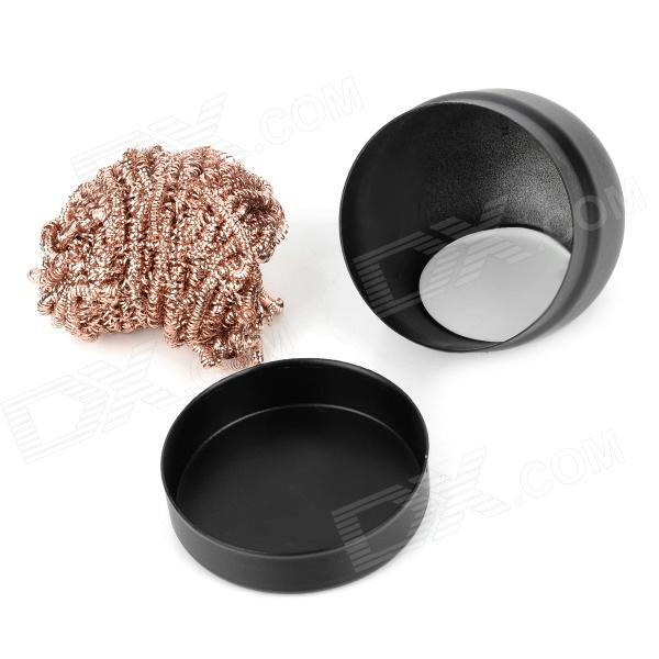 weitus wts 599b soldering iron tip cleaning ball black copper red free. Black Bedroom Furniture Sets. Home Design Ideas