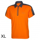 Baohusan 0959 Quick-drying Outdoor Travel Polyester Polo Shirt for Men - Orange + Grey (XL)