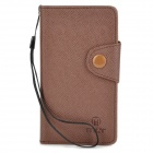 Protective PU Leather Case for Sony S36H - Brown