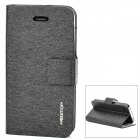 Newtop Elegant Protective PU Leather Case for iPhone 4 / 4S - Black