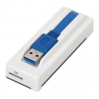 High Speed ​​USB 3.0 MS / SD / M2 / Micro SD Card Reader - Cinza Branco + Translúcido