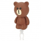Cute Cartoon Bear Style Audio Jack Anti-Dust Plug for Cell Phone - Brown