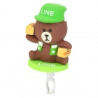 Cute Bear Courier Adornment 3.5mm Jack Anti-dust Plug for Iphone / Cellphone - Multicolored