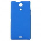 Stylish Quicksand Texture Protective PC Back Case for Sony M36h - Blue