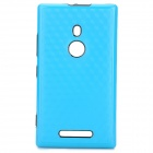 Fashionable Diamond Pattern Protective PC + TPU Back Case for Nokia 925 - Black + Blue