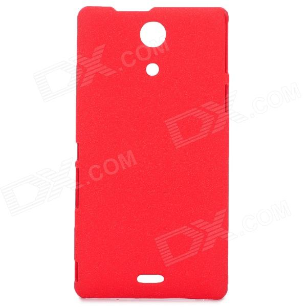 Stylish Quicksand Texture Protective PC Back Case for Sony M36h - Red