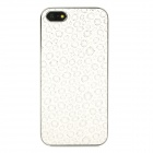 Fashionable Firework Pattern Protective Plastic Back Case for Iphone 5 - White + Silver