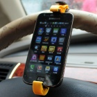 Retrátil Car Holder Mount para iPhone 4S / 5 / Samsung i9300 - Amarelo + Preto