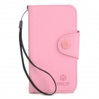 Protective Flip-open PU Leather Case for Sony S36H - Pink