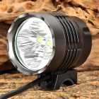 SL-8025 1600lm 4-Mode White Bicycle Headlamp w/ 5 x CREE XM-L U2 - Dark Grey (4 x 18650)