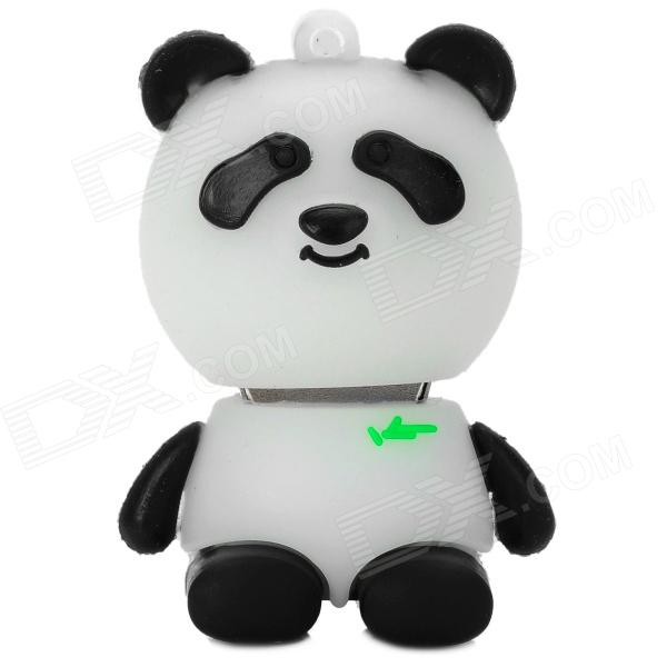 Cartoon Panda Style USB 2.0 Flash Drive - Black + White + Green (8GB)