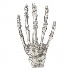 063001 Skeleton Hand Style Zinc Alloy Decorative Hairpin / Collar Clip - Silver