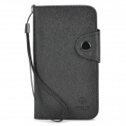 Protective PU Leather Case for Sony S36H - Black