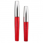 Fashionable Make-up Waterproof Eyelash Lengthen Gel + Fiber Set - Red + Silver