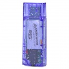 M2703 Portable Rechargeable TF Card Reader MP3 Player w/ USB Flash Drive - Translucent Purple (32GB)