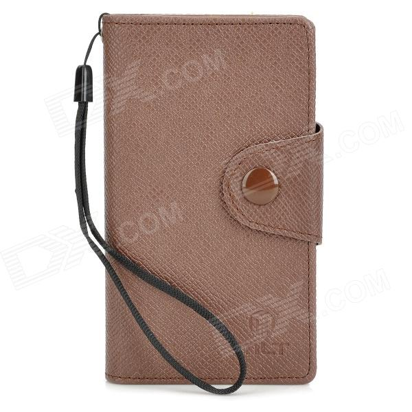 Protective PU Leather Case for Sony ST26i - Brown