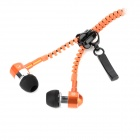Mobaks HXT-2045 Zipper Design In-Ear Earphones w/ Microphone - Orange (3.5mm Plug / 120cm-Cable)