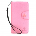 Protective Flip-open PU Leather Case for Sony ST26T - Pink
