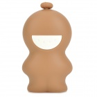Cute Doll Style Soft Silicone Key  Case Pouch w/ Hang Rope - Coffee