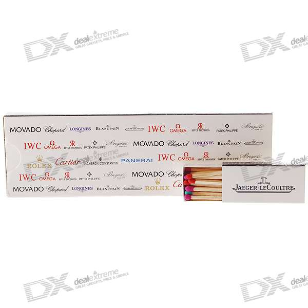 Watch Brand Sign Series Match Sticks (14-Box Pack)