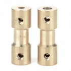 DIY Coupler Shaft for R/C Car Boat Motor - Bronze (2 PCS)