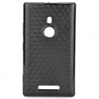 Fashionable Diamond Pattern Protective PC + TPU Back Case for Nokia 925 - Black
