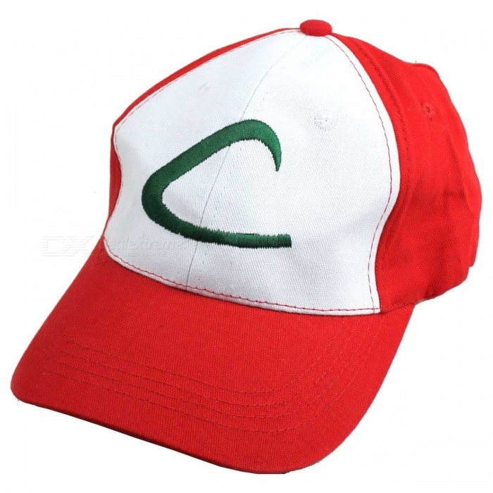 Simple Hip Pop Style Hat/Cap (Red + White)