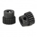 C45-4 DIY 45 Steel 4mm Gear Wheel Motor Gear - Black (2 PCS)