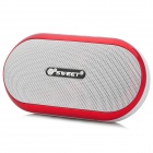 C1XF Mini Portable 3W MP3 Speaker w/ TF Slot / USB / 3.5mm Jack / FM Radio - White + Red (1 x BL-5C)