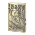 Rechargeable Panda Style Butane Lighter w/ Dual LED Light / Currency Detector - Bronze