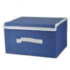 Wenbo WB002 Multifunction Clothes Storage Box - Blue + White