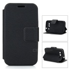 Protective Flip-open PU Leather Case for Samsung i8552 Galaxy Win - Black