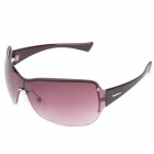 Panlees JHS3226 Fashionable UV400 Protection Sunglasses - Plum + Silver