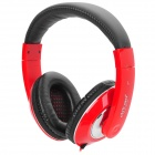 Ditmo DM-3700 Headband Stereo Headphone w/ 3.5mm Plug - Red + Silver + Black