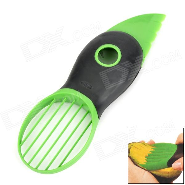 3-in-1 ABS Avocado Pitter Slicer - Green + Black oxo good grips 3 in 1 avocado slicer green garden lawn maintenance