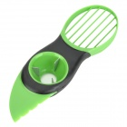 3-in-1 ABS Avocado Pitter Slicer - Green + Black